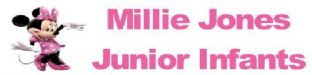 Personalised Minnie Mouse Pencil Sticker